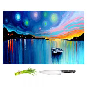 Artistic Kitchen Bar Cutting Boards | Aja Ann - Midnight Harbor xxxii