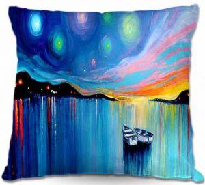 Decorative Outdoor Patio Pillow Cushion | Aja Ann - Midnight Harbor xxxii