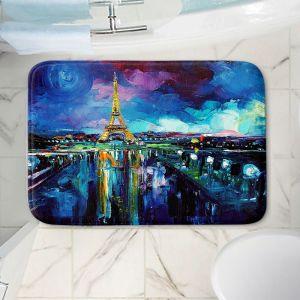 Decorative Bathroom Mats | Aja Ann - Parisian Night Eiffel Tower