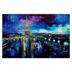 Decorative Floor Coverings | Aja Ann Parisian Night Eiffel Tower