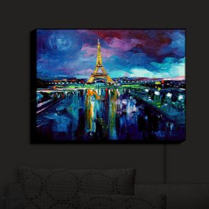 Unique Illuminated Wall Art 14 x 11 from DiaNoche Designs by Aja Ann - Parisian Night Eiffel Tower