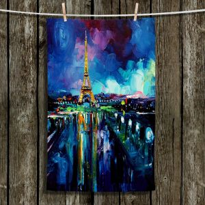 Unique Hanging Tea Towels | Aja Ann - Parisian Night Eiffel Tower | Paris Night Eiffel Tower