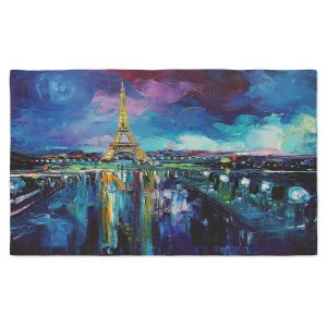 Artistic Pashmina Scarf | Aja Ann - Parisian Night Eiffel Tower | Paris France Eiffel Tower