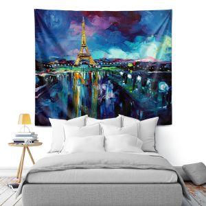 Artistic Wall Tapestry | Aja Ann Parisian Night Eiffel Tower