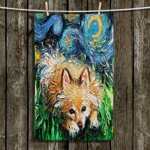Unique Bathroom Towels | Aja Ann - Pomeranian Night