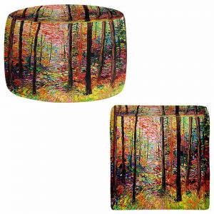 Round and Square Ottoman Foot Stools | Aja Ann - Prisms