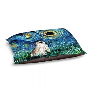 Decorative Dog Pet Beds | Aja Ann - Pug | Starry Night Dog Animal