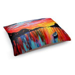 Decorative Dog Pet Beds | Aja Ann's Red Sky at Night
