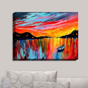 Decorative Canvas Wall Art | Aja Ann - Red Sky at Night
