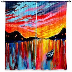 Decorative Window Treatments | Aja Ann Red Sky at Night