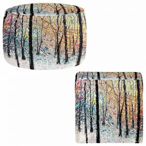 Round and Square Ottoman Foot Stools | Aja Ann - Refraction