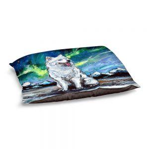 Decorative Dog Pet Beds | Aja Ann - Samoyed Dog | Starry Night Dog Animal