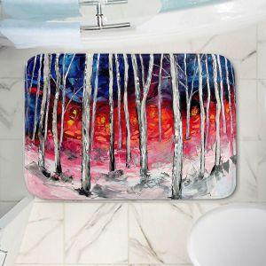 Decorative Bathroom Mats | Aja Ann - Silver Birch