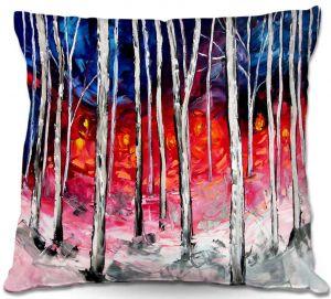 Decorative Outdoor Patio Pillow Cushion   Aja Ann - Silver Birch