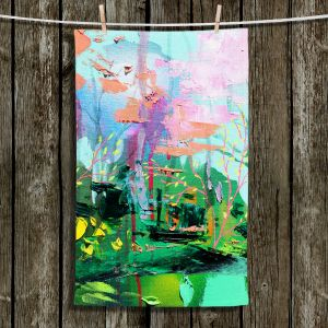 Unique Hanging Tea Towels   Aja Ann - Springs Promise   Abstract