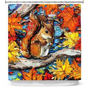 Premium Shower Curtains | Aja Ann - Squirreling Away