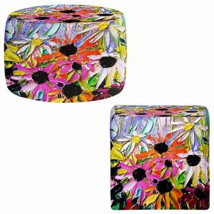 Round and Square Ottoman Foot Stools | Aja Ann - Stories From a Field Act ccxxxi