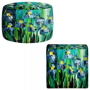 Round and Square Ottoman Foot Stools | Aja Ann - Stories From a Field Act lxiv