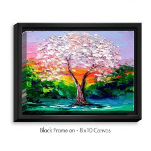 Decorative Canvas Black Frame 20x16 from DiaNoche Designs by Aja Ann - Story of the Tree L