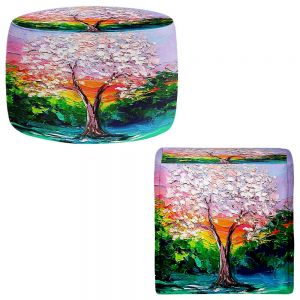 Round and Square Ottoman Foot Stools | Aja Ann - Story of the Tree L