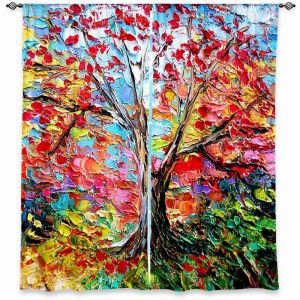 Unique Window Curtain Lined 40w x 61h from DiaNoche Designs by Aja Ann - Story of the Tree 59