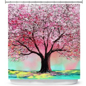 Unique Shower Curtain from DiaNoche Designs by Aja Ann - Story of the Tree lxxiv