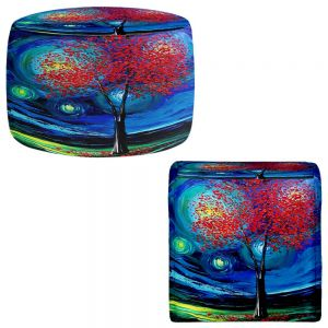 Round and Square Ottoman Foot Stools | Aja Ann - Story of the Tree xli