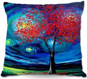 Unique Outdoor Pillow 16x16 from DiaNoche Designs by Aja Ann - Story of the Tree Act xli