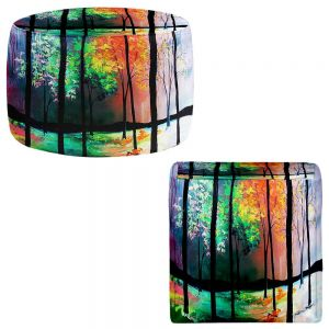 Round and Square Ottoman Foot Stools   Aja Ann - The Four Seasons
