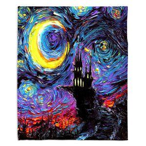 Artistic Sherpa Pile Blankets | Aja Ann - Haunting van Gogh | Harry Potter, Starry Night van Gogh