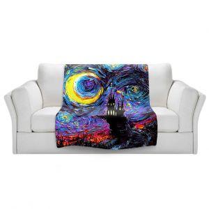 Artistic Sherpa Pile Blankets   Aja Ann - Haunting van Gogh   Harry Potter, Starry Night van Gogh