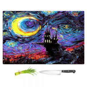 Artistic Kitchen Bar Cutting Boards | Aja Ann - Haunting van Gogh | Harry Potter, Starry Night van Gogh