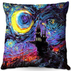 Throw Pillows Decorative Artistic | Aja Ann - Haunting van Gogh | Harry Potter, Starry Night van Gogh
