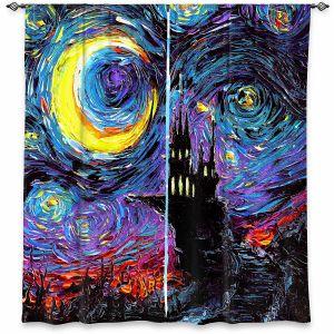 Decorative Window Treatments | Aja Ann - Haunting van Gogh | Harry Potter, Starry Night van Gogh