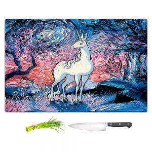 Artistic Kitchen Bar Cutting Boards   Aja Ann - Last Star Morning   Unicorn, Winter