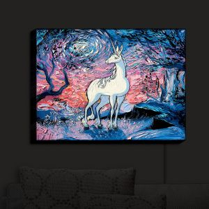 Nightlight Sconce Canvas Light | Aja Ann - Last Star Morning | Unicorn, Winter