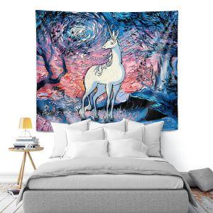Artistic Wall Tapestry | Aja Ann - Last Star Morning | Unicorn, Winter