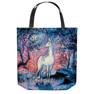 Unique Shoulder Bag Tote Bags | Aja Ann - Last Star Morning | Unicorn, Winter