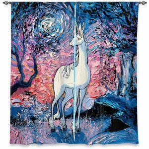 Decorative Window Treatments | Aja Ann - Last Star Morning | Unicorn, Winter