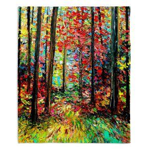Decorative Fleece Throw Blankets | Aja Ann - Through the Trees