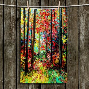 Unique Hanging Tea Towels | Aja Ann - Through the Trees | Landscapes Trees Forests