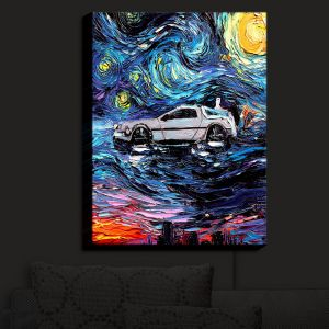 Nightlight Sconce Canvas Light | Aja Ann - Van Gogh Back to the Future