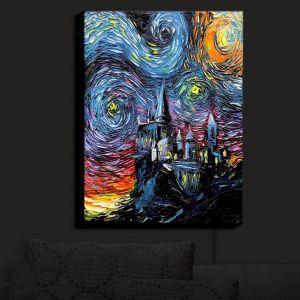 Nightlight Sconce Canvas Light | Aja Ann - Van Gogh Hogwarts