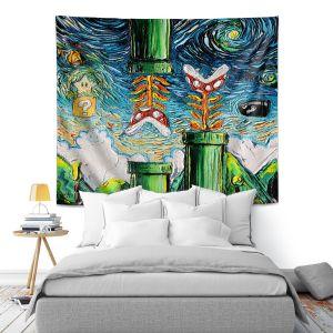 Artistic Wall Tapestry | Aja Ann - van Gogh Super Mario Bros