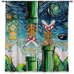 Decorative Window Treatments | Aja Ann - van Gogh Super Mario Bros