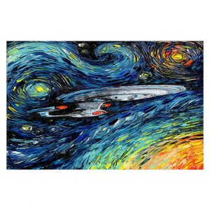 Decorative Floor Coverings | Aja Ann - van Gogh Star Trek Painting