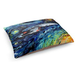Decorative Dog Pet Beds | Aja Ann - van Gogh Star Trek Painting