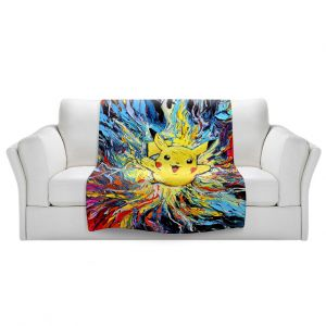 Artistic Sherpa Pile Blankets   Aja Ann - van Gogh Pokeman