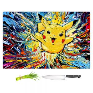 Artistic Kitchen Bar Cutting Boards | Aja Ann - van Gogh Pokeman