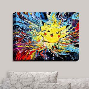 Decorative Canvas Wall Art | Aja Ann - van Gogh Pokeman | Childlike Pokemon Colorful